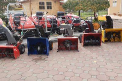 Dočekajte zimu spremni – snježne freze, ralice, cjepač za drva, traktori i traktor kosilice s ralicama